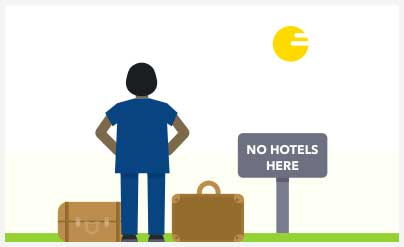 No Hotels Here